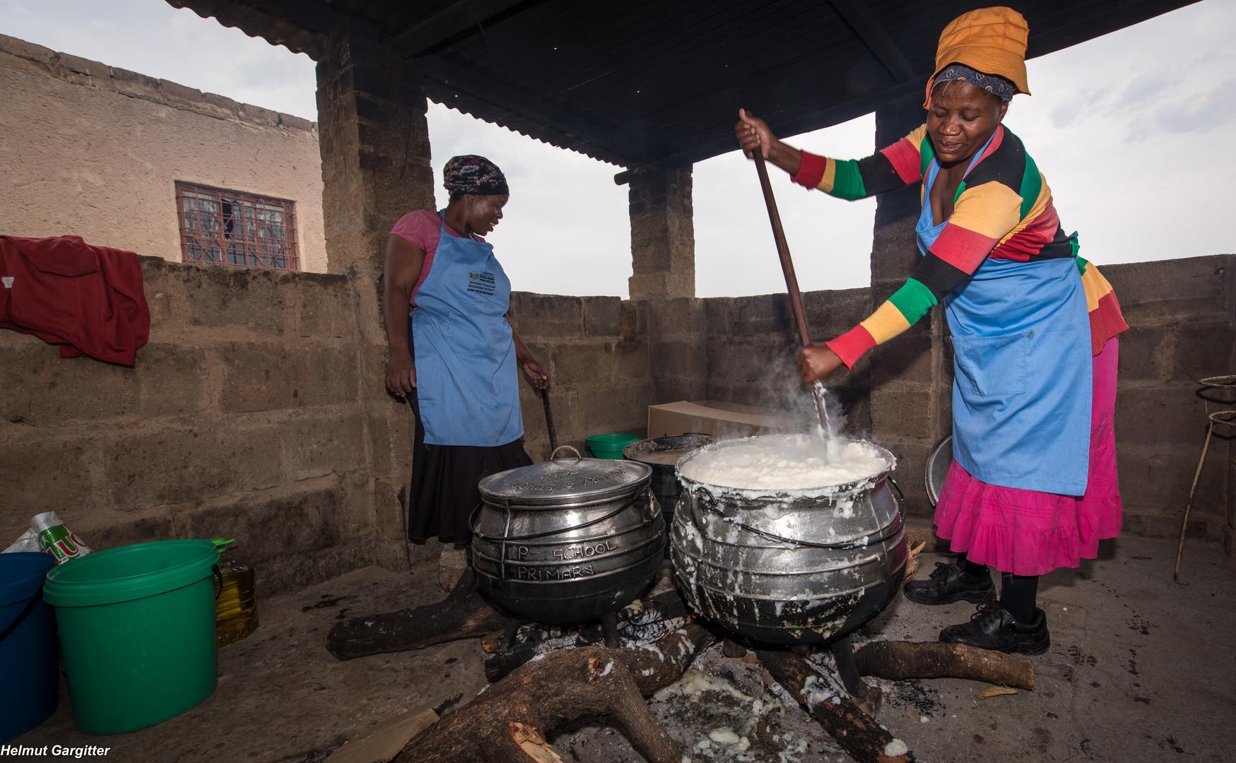 Die Köchin der Südafrikanischen Schule in Groblersdal