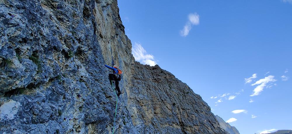 Alpinklettern Dolomiten Südtirol Ciavaces Via Irma Topo