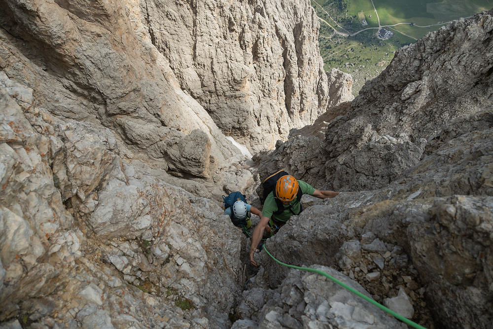 Alpinklettern Dolomiten Langkofel Normalweg Topo Gröden