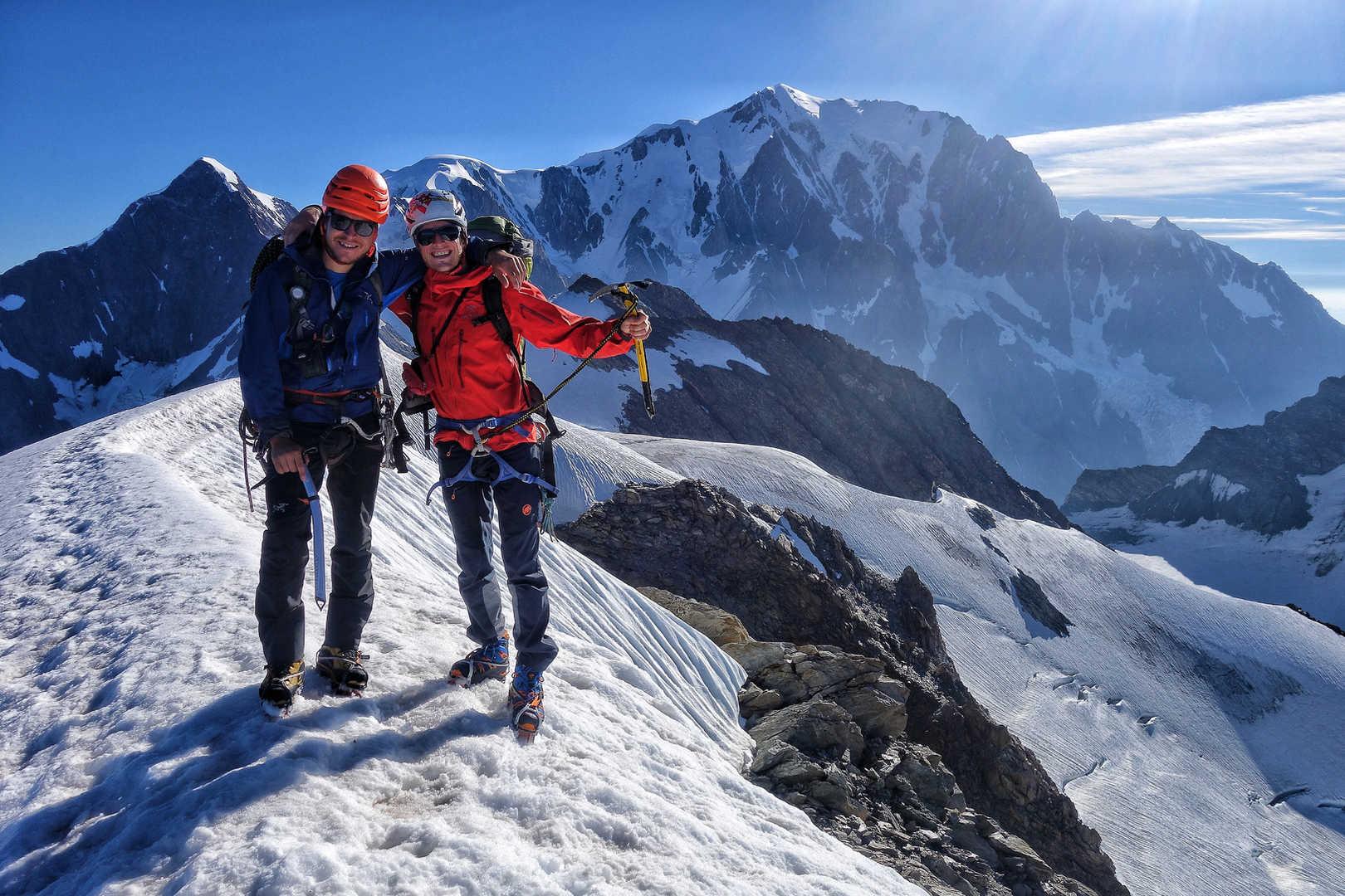 Am Dome du Miage - Hinten der Mont Blanc