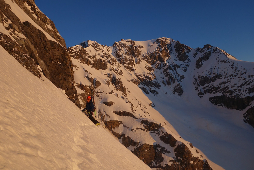 Zebru Nordwand Ortler Klettern Skitour