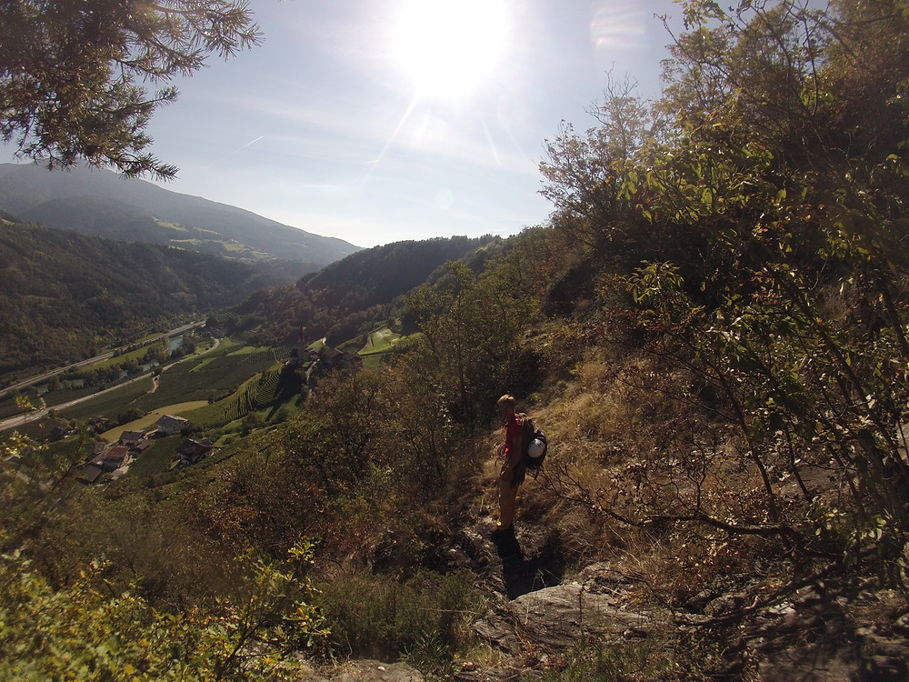 Klettern Wasserfall Schrambach