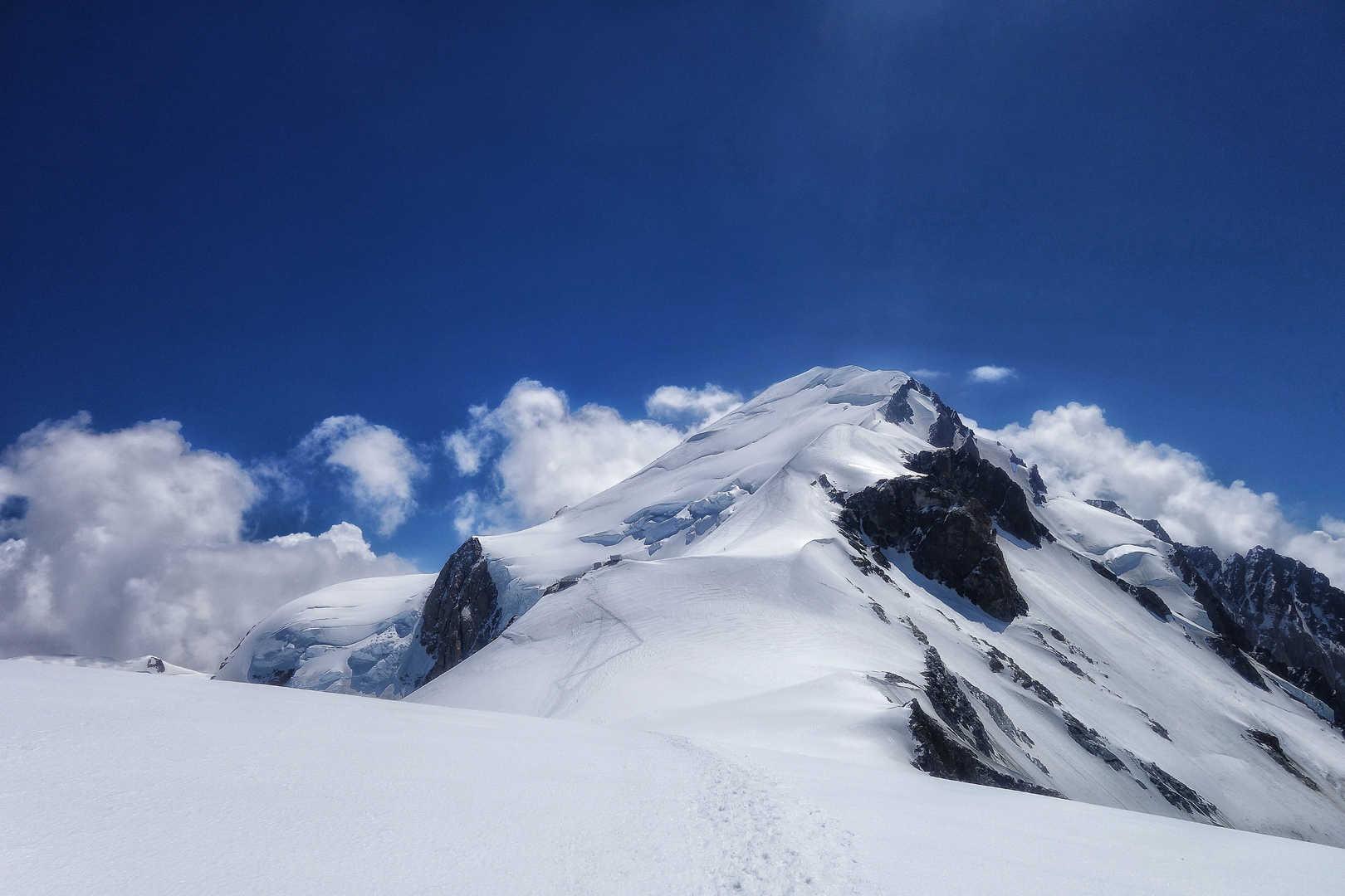 Am Dome du Gouter - Der Gipfel des Mont Blanc