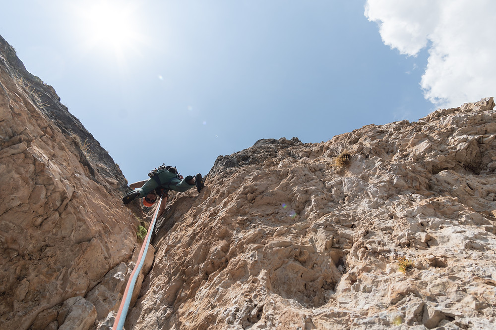 Ciampanil de Val Rosmarie Topo Alpinklettern Dolomiten Langental Gröden Südtirol