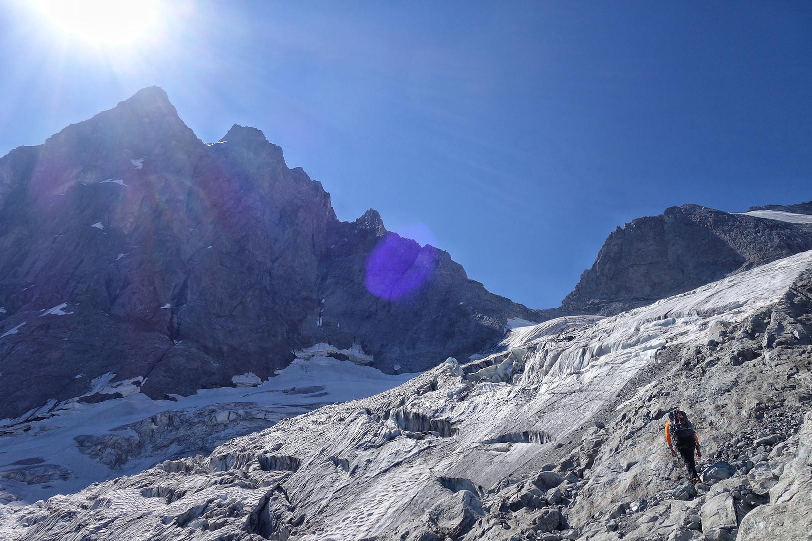 kurz vor dem Glacier de la Meije