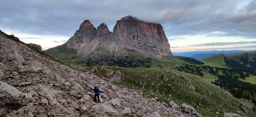 Alpinklettern, Dolomiten, Zweiter Sellaturm, Glück, Topo
