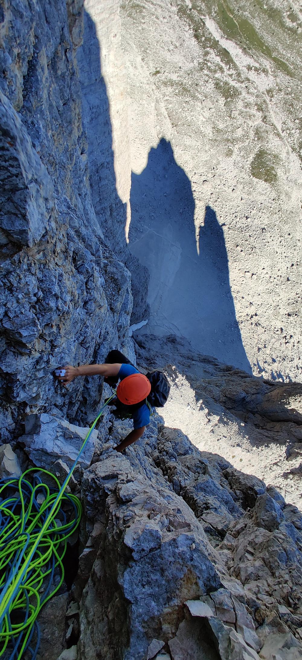 Alpinklettern Südtirol Dolomiten Drei Zinnen Innerkofler Kleine Zinne Topo