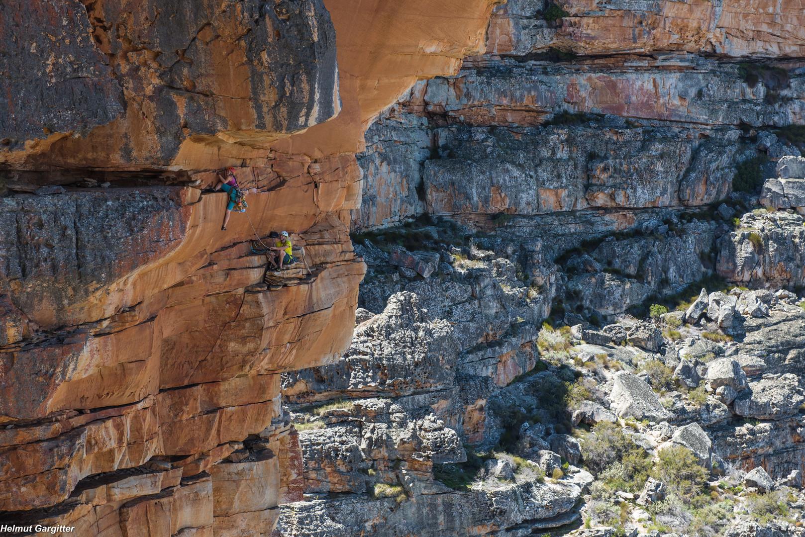 Alpinklettern in den Wolfberg Cracks
