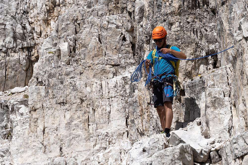 Alpinklettern Südtirol Dolomiten Dreischusterspitze Normalweg Topo