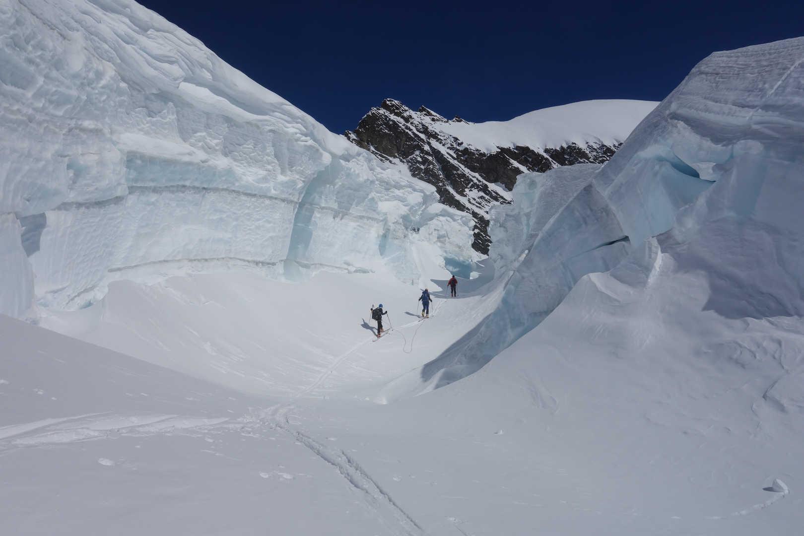 Gletscherbruch an den Fiescherhörnern