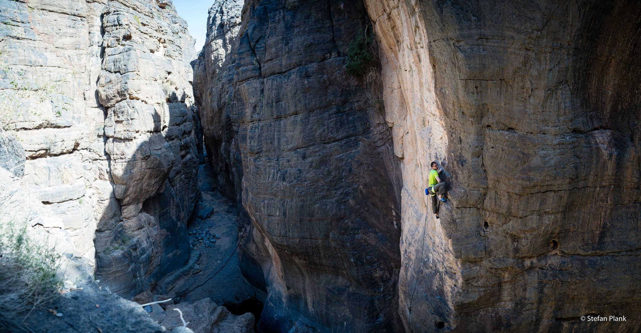 Sportklettern im Snake Canyon