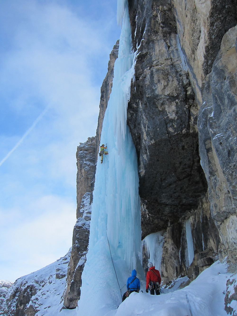 Eisklettern Jumbojet Jumbo Jet Langental Gröden Dolomiten