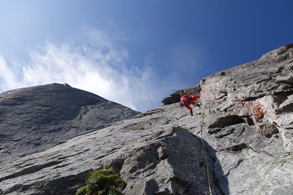 Alpinklettern Piz Badile Cassin Nordwände der Alpen Nordwand