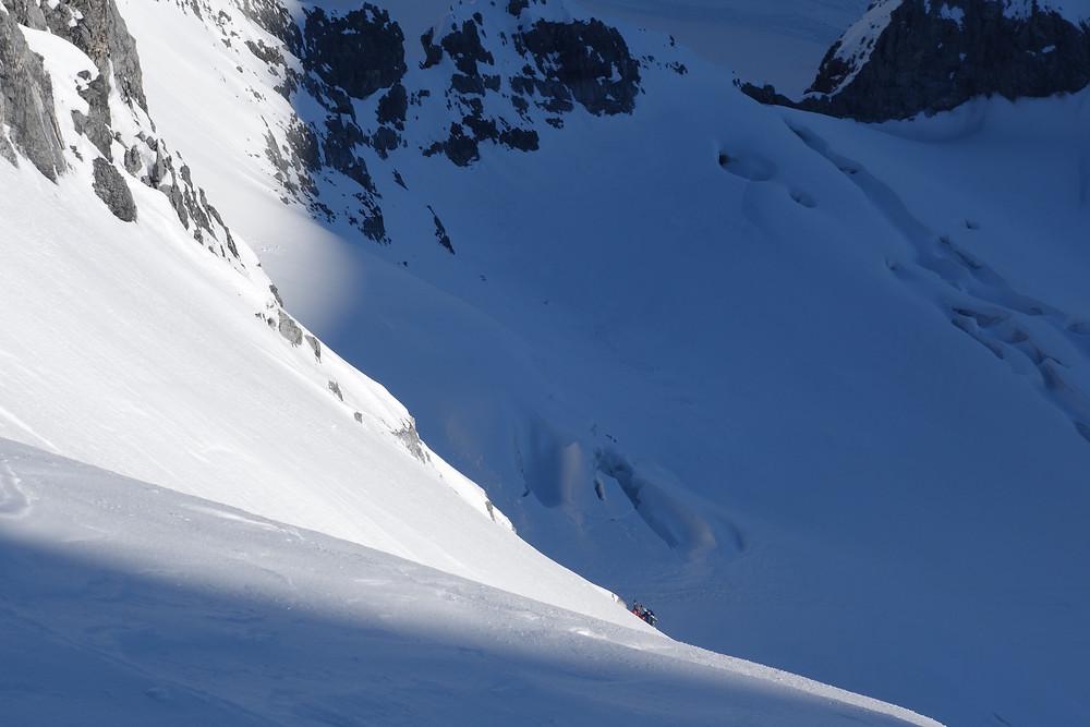 Trafoier Eiswand Nordwand Skitour Ortlergruppe Pelliciolibiwak