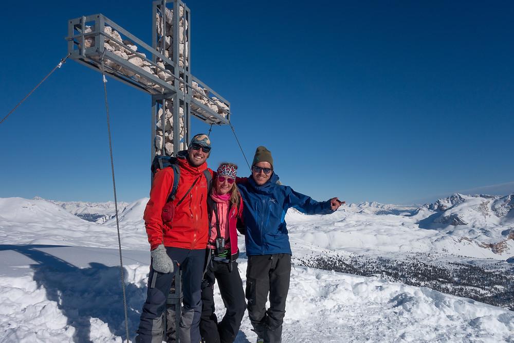 Skitour Eisengabelspitze Furcia dai Fers Pederü