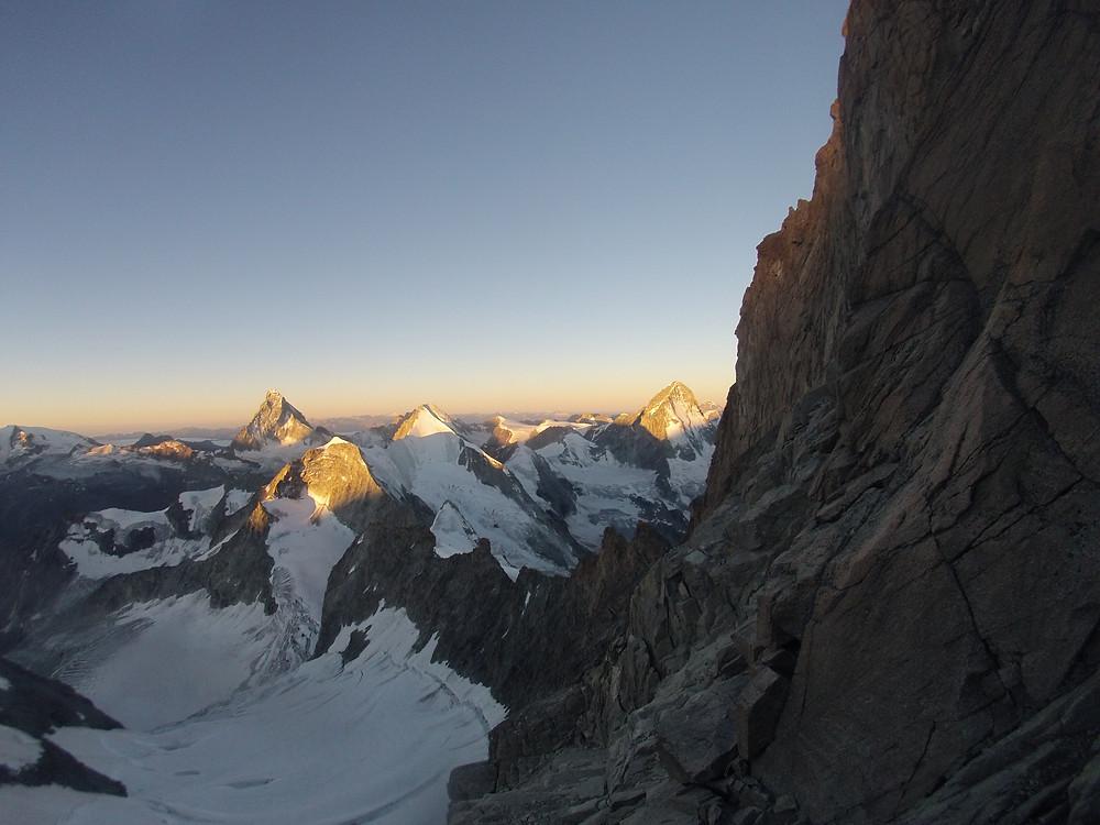 Zinalrothorn Rothornhütte Südostgrat Westalpen Schweiz Hochtour