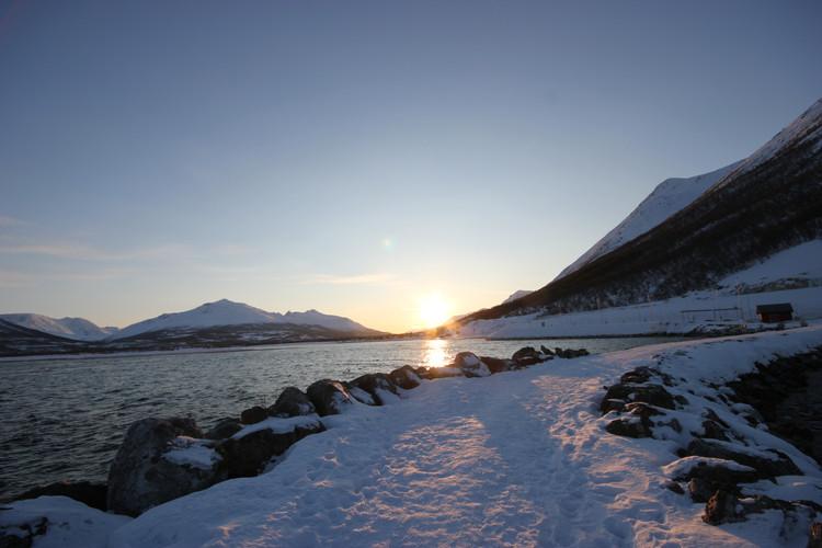 Sonnenuntergang in Breivik