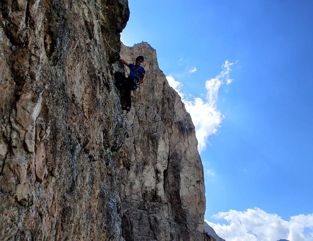Alpinklettern Dolomiten Grödner Joch Rodelheilspitze Vinatzer Topo