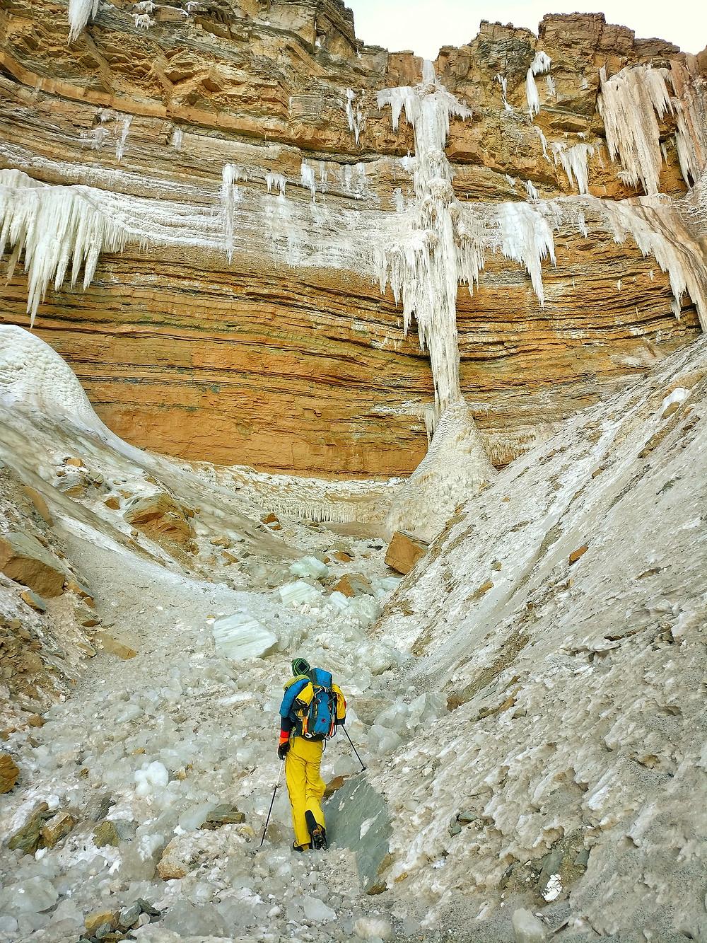 Eisklettern Südtirol Bletterbachschlucht Bletterbach Eisgeist