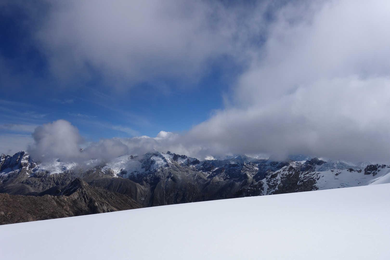 Abstieg vom Ishinca