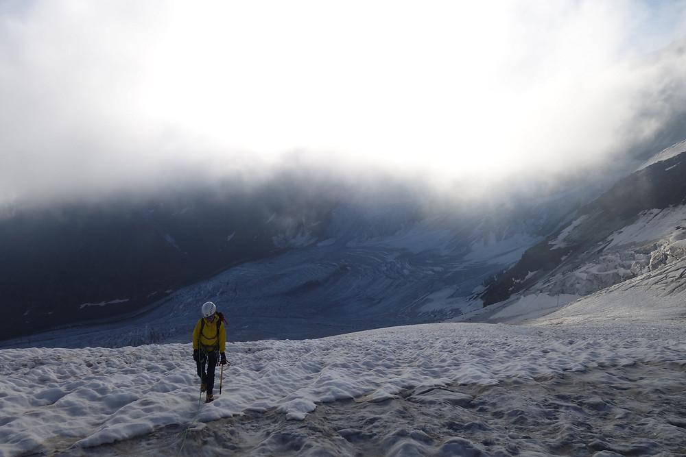 Punta San Matteo Fornokessel Nordostflanke Gletschertour Ortlergruppe