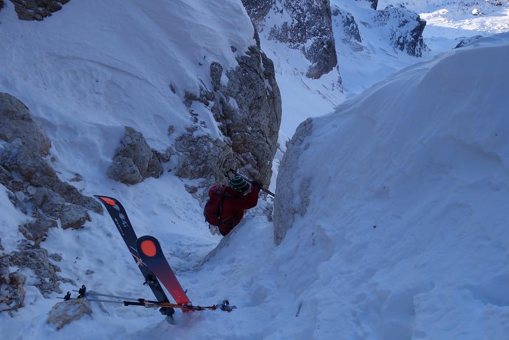 Cima Vezzana Skitour Tavignolorinne Burelonischlucht Palagruppe