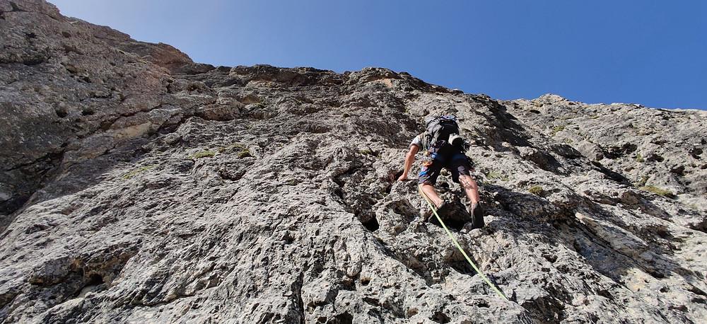 Schlern Burgstallkante Alpinklettern Südtirol Dolomiten Topo