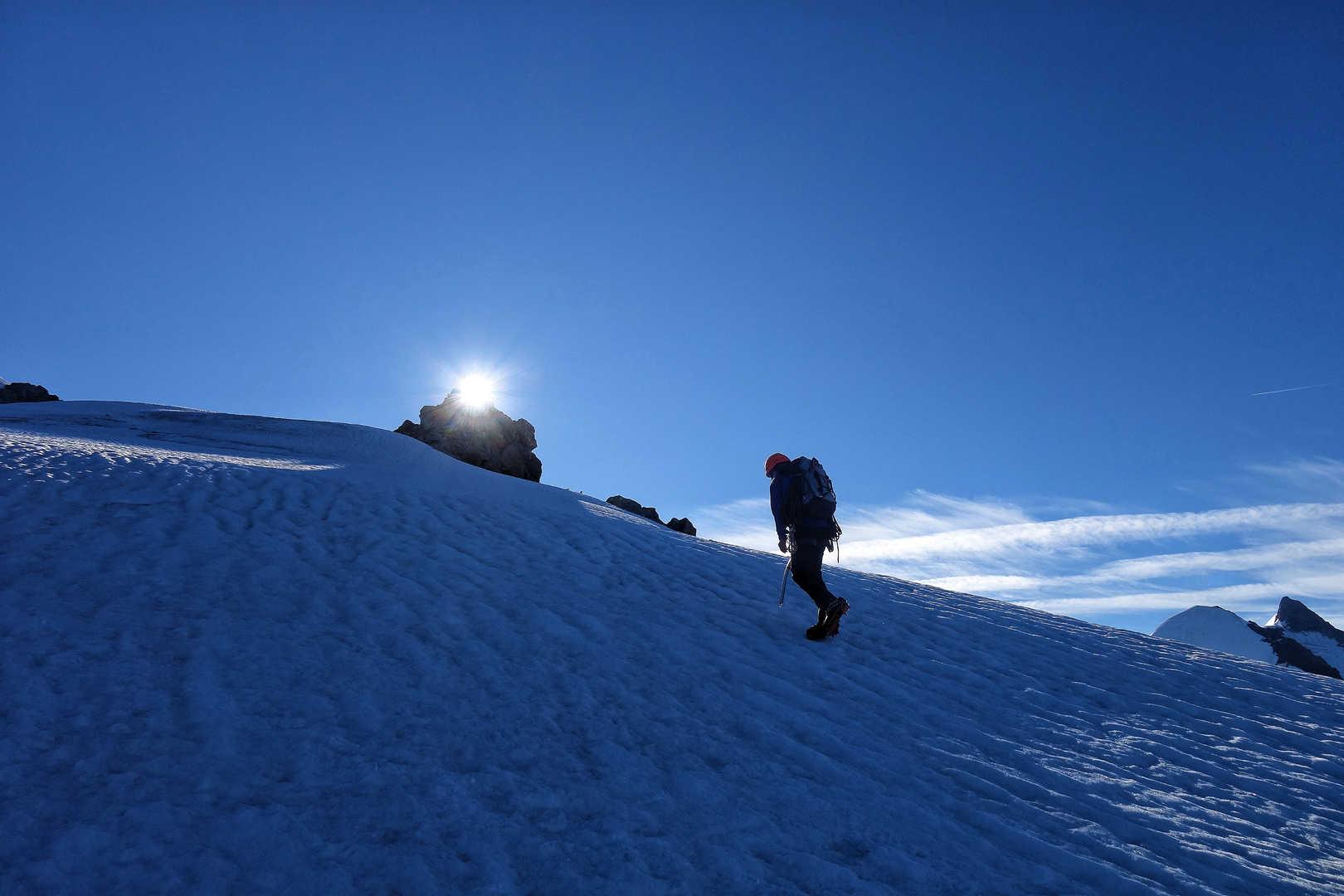 Aufstieg zum Dome du Miage