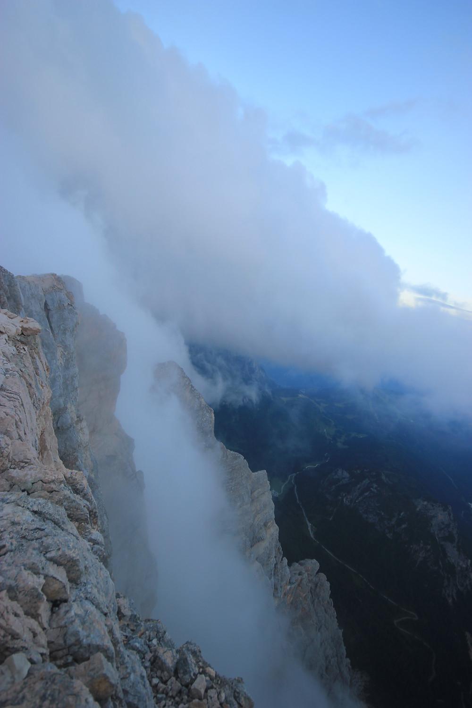 Monte Pelmo Dolomiten Normalweg Bell Band Sonnenaufgang