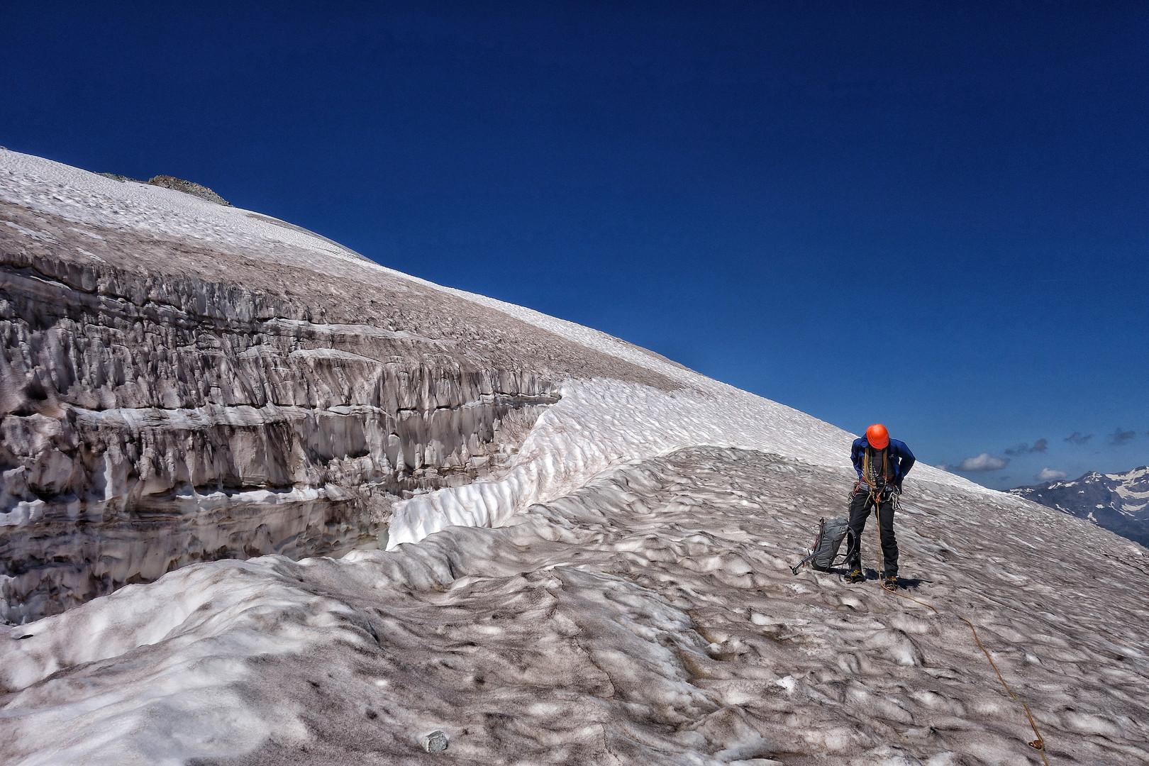 auf dem Glacier de la Meije