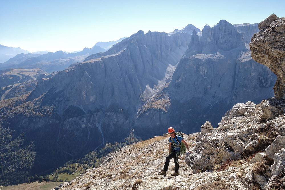 Alpinklettern Südtirol Dolomiten Sella Gröden Adang Sass Ciampac