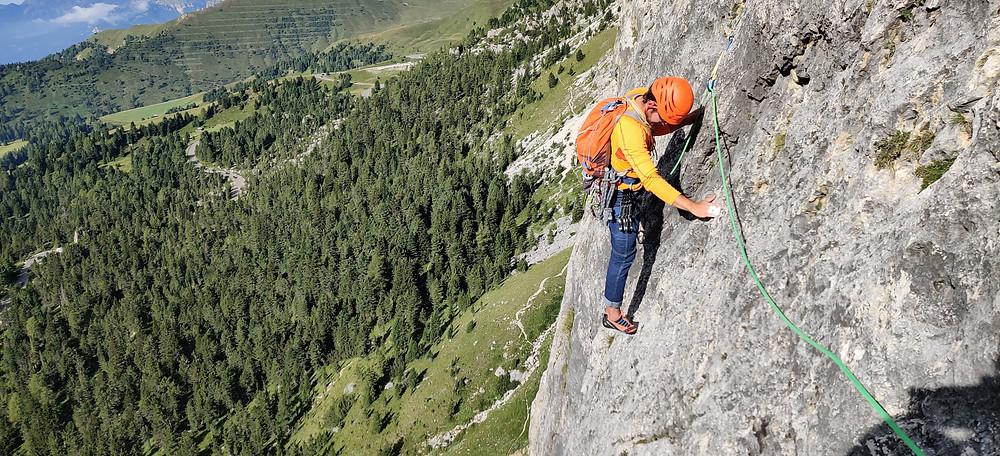 Alpinklettern Südtirol Dolomiten Ciavaces Micheluzzi Topo