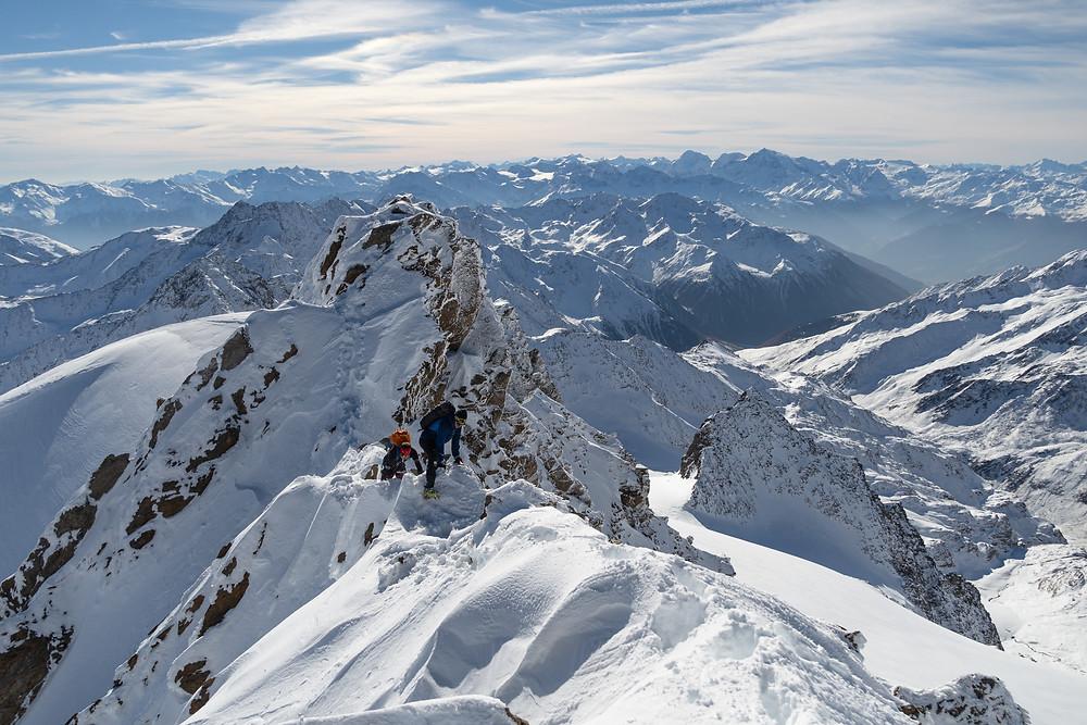 Skitour, Skihochtour, Südtirol, Schnals, Weisskugel