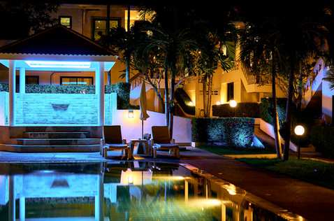 SPA jacuzzi at night