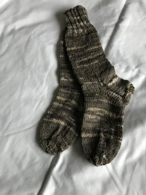 Brown/Cream socks