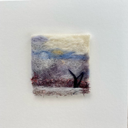 Felted Landscape - Winter Tree