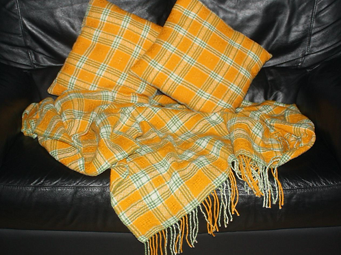 Sunshine Cushions and Blanket