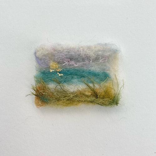 Miniature Seascape - Golden Sun Grasses