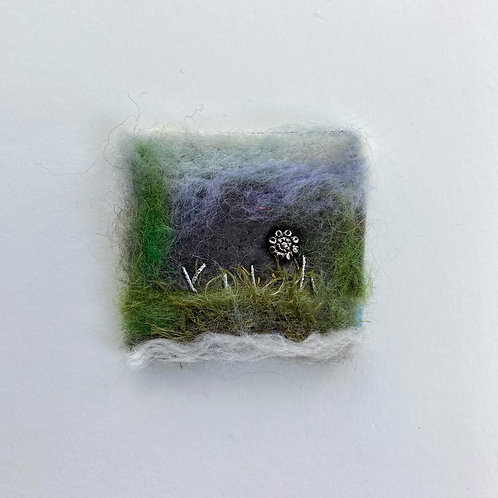 Felted miniatures - Silver Flower