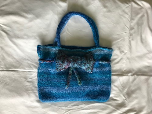 Blue Felted Bag