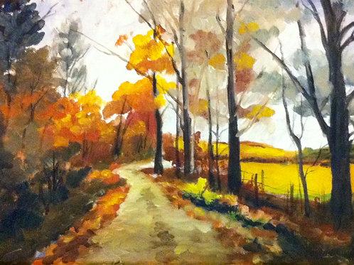 The Lane in Autumn