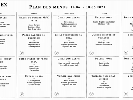 Lunch Menu - 14/06