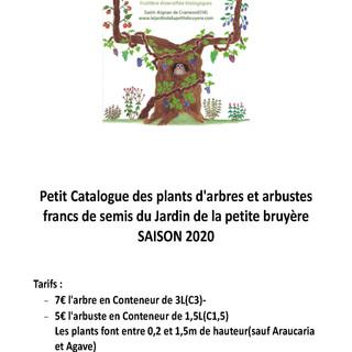 Petit catalogue arbre et arbuste saison