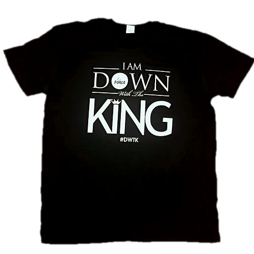 Black - Down With The King T-Shirt