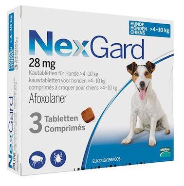 Nexgard 10-24 lbs 28 mg (4-10 kg) 3 Pack