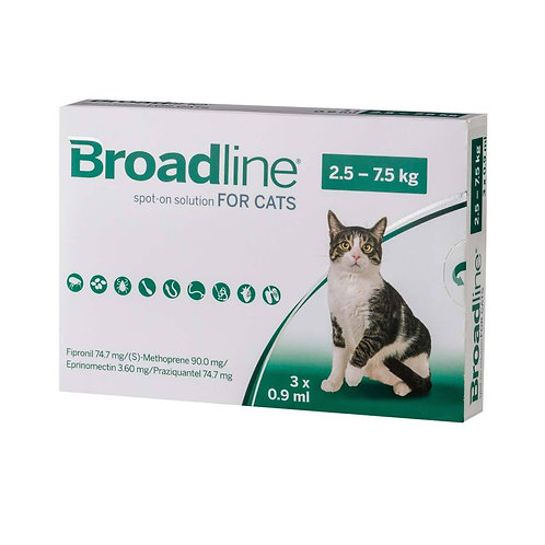 Broadline Spot-On Solution for Large Cats 5.5 to 16.5 lbs (2.5-7.5kg)