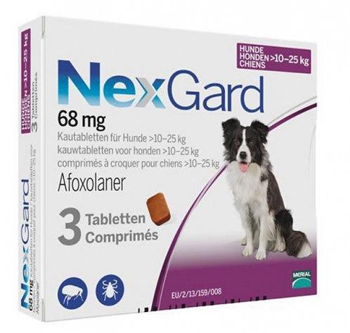 Nexgard 24-60 lbs 68mg (10-25kg) 3 Pack