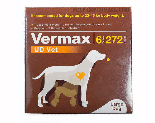 Vermax Brown For Dogs Up to 51-100 lbs (23-45kg.)