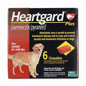 Heartgard Plus Brown For Dogs 51-100 lbs (23-45kg)