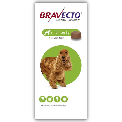 Bravecto Chewable For Dogs 22-44 lbs (10-20 kg)